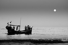 Voyage to eternity (Shutterfreak ) Tags: ocean monochrome silhouette boat waves human journey gradient ripples conceptual bangladesh lyrical inkiad