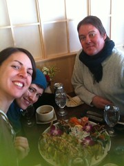 Ruth and Heather lunch with the lovely Luke form Red House Records