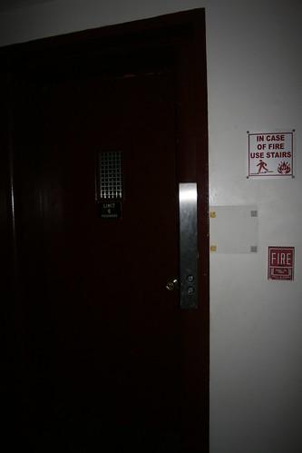 Swing door Seaberg Sabbath elevator in main building