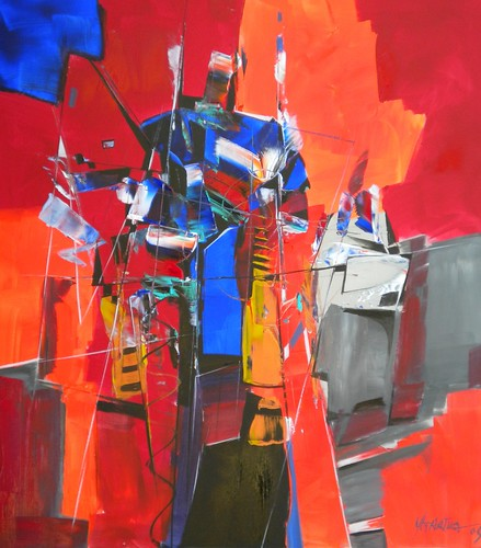 The Mechanic - Original Painting - Abstract