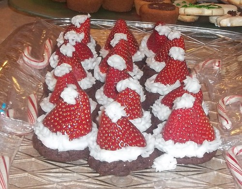 Christmas hat cookies