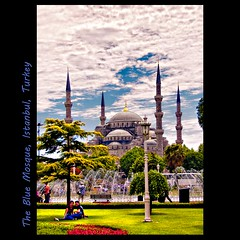 The Blue Mossque (tim, TimCooperPhotos.com) Tags: summer turkey europe picnic flickr cityscape middleeast istanbul mosque bluemosque timcooper sultanahmetpark mygearandme mygearandmepremium
