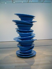 Robert Therrien: No Title (Blue Plastic Plates), 1999