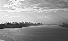 NYC Skyline from The GWB (Wallace Flores) Tags: nyc nikon shadows bridges midtown newyorkstate gothamist gwb d3s