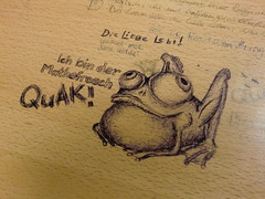 Table art (Steys) Tags: berlin painting table kunst grafik frog futurama mathematics tisch frosch liebe tableart mathe zeichnung krte mathematik kugelschreiber hypnotoad tischkunst kugelschrieberarbeit