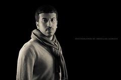 Self Portrait (Abdullah Alshaiji) Tags: portrait white black home scarf canon studio background abdullah 24105 blacj 60d alshaiji alshayji