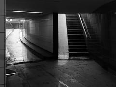 which way (Bearbeitungstrupp) Tags: bw stairs hamburg tunnel treppe durchfahrt epl1 lumixg20f17