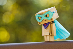 """''You're a Superhero to someone ..So act like one. Someone is watching."""" (.OhSoBoHo) Tags: blue red color cute green canon toy japanese robot costume interesting colorful colours sweet bokeh handmade turquoise small creative manga mini 100mm hero kawaii wee colourful imadethis pow bam zap danbo capedcrusader amazoncojp revoltech canoneos40d danboard  yotsubai danbolove danbophotography danborobot toyintheframethursday htitft superdanbo amazoncardboardrobot danbosuperhero capedcardboardrobot"""
