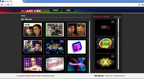 My ABS-CBN_ Home page