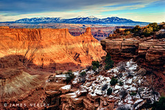 The Dawn of Night (James Neeley) Tags: sunset landscape utah deadhorsepoint canyonlands moab hdr 5xp jamesneeley flickr24