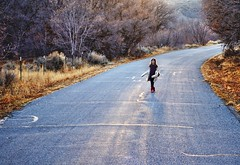 Warm Winter Walk (JasonCameron) Tags: road winter sunset cold girl photography utah kid child jane walk january brisk herriman redboots butterfieldcanyon