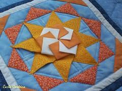 Mandala   S ☼ L (Carla Cordeiro) Tags: sol origami mandala patchwork dobradura panô azullaranja orinuno