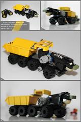 TDK Heavy Hauler (Pierre E Fieschi) Tags: truck lego pierre transport micro heavy logistics microspace fieschi microscale microspacetopia
