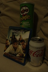 day 7: A productive night! (SarahG96) Tags: food movie photography rebel junk cream coke hangover chips cannon onion cocacola sour pringles t3i blueray