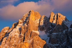 Bureloni (Nik!) Tags: sunset tramonto dolomiti paledisanmartino enrosadira bureloni