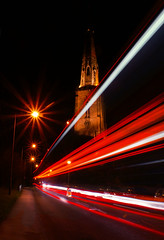 All Hallows Church (Fishfingers & Custard) Tags: nottingham uk bus cars clock church night island lights streetlights sony lighttrails alpha doh spier alphamale gedling allhallows allrightsreserved 1stattempt willbeback sheepworriers fishfingerscustard a300700 allrightsreservedworldwidepleasedonotuseanyofmyimageswithoutaskingformypermission cameraimagery enquiriescameraimagerycouk notcrookedlikethoseovertheborder spireeven