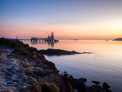 (alancowper) Tags: sunrise point landscape scotland industrial fife olympus terminal forth oil firth ep3 braefoot