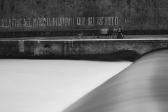 Roma,tevere (marcomes) Tags: bw italy rome roma italia fiume bicycles rivers tevere citt hoya longexposures biciclette nd400 2011 lungoiltevere