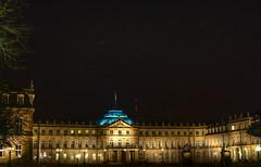 Schlossplatz at Night (Ramiro Marquez) Tags: city architecture night germany deutschland europe stuttgart center palace schloss schlossplatz hdr neue newpalace neueschloss