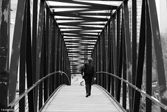 Walk away (Ravi 18082515) Tags: bridge white black alone walk away