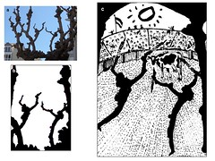 Escenas taurinas 1. Banderillas. Bullfighting scenes 1. (Esetoscano) Tags: bw art byn foto shadows arte cartoon picture silhouettes photograph scanned toros drawn dibujo bullfight corrida sombras siluetas handdrawn escaneado banderillas taurina dibujoamano