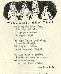 welcome, new year (Millie Motts) Tags: illustration vintage magazine children poem 40s