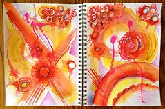 Doodles Unleashed - Lesson 2 (Pat Pitingolo) Tags: watercolor strathmoreworkshop doodlesunleashed