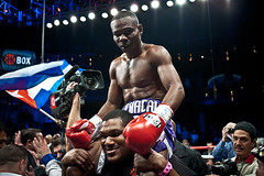 Guillermo Rigondeaux after the win vs. Rico Ra...