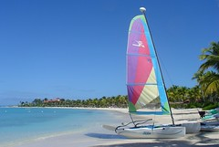 "Colourful hobiecat on white beach at Jumby Bay, Antigua, Caribbean (Far Out Photography) Tags: ocean from travel blue sea summer vacation sky white holiday seascape hot nature water beautiful beauty weather swimming swim season relax landscape outdoors island coast sand scenery paradise surf day escape view outdoor getaway sandy perspective shoreline scenic azure peaceful sunny away scene it location antigua exotic fantasy shore tropical coastline caribbean unusual relaxation hobiecat bay"" shadesofblue beach"" all"" ""colourful holiday"" ""sailing vacation"" ""get ""getting ""jumby ""hobiecat"