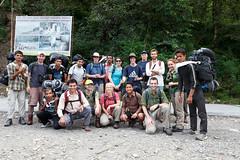 Group picture before setting off to Annapurna Sanctuary (Michał Olszewski) Tags: nepal asia land himalayas acap gandaki kaski nayapul annapurnaconservationarea annapurnaconservationareaproject