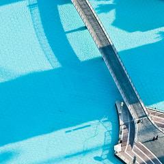 view from Burj Khalifa (miemo) Tags: city travel bridge people urban water pool scenery dubai shadows view uae middleeast olympus aerial arabia unitedarabemirates ep1 dubaimall omzuiko100mmf28 burjkhalifa