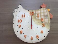 Tic Tac (Hilbert's Atelier) Tags: galinha arte country artesanato decoração cozinha relógio pintura