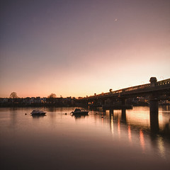 London 2012 January 26th (violinconcertono3) Tags: bridge sunset london thames river landscapes unitedkingdom fineart fineartphotography putney london2012 londonist fineartphotographer londonphotographer 19sixty3