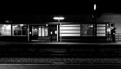 Late train (chinesechef) Tags: white black station train canon canonef2470mmf28lusm emptiness week4 hellerup 1dsmarkii 366pc2012