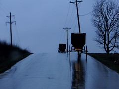 Rainy Morning (cindy47452) Tags: road morning wet rain early indiana amish orangecounty buggies dschx1