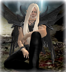Avolas (Alea Lamont) Tags: white tattoo hair beard skins avatar goth shapes ears elf fantasy cloak pills wasabi rp complete elven ndmd