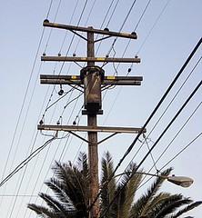 Old Transformer (IE Rick) Tags: california ca cali high wire power transformer cable pole fontana fuse voltage sce insulator rt66 4kv westinghousetransformer