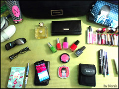 In my bag (HeartsStation) Tags: pink blue red orange color green colors girl beautiful beauty sunglasses fashion mobile bag fun happy photo rainbow colorful ericsson sony sonyericsson nail makeup optical style polish charming blush norah handbag saudiarabia avon dior orang versace dg inmybag stylish eyeliner givenchy nyx parfum rinbow kohal givenchybag xperia kimidoll sonydscw310 heartsstation xperiaarc givenchyleatherbag lipsticke
