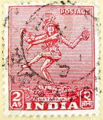 great stamp India 2 As Shiva Nataraja  (Lord of Cosmic Dance - Tava) postage       francobolli selo sello India     postzegel zegels India       znaczki Indie    frimerker India (stampolina) Tags: old red india vintage postes dance stamps religion stamp indie shiva hindu indi hinduism nataraja cosmic tem indien postzegel inde linde selo bolli sello sellos shiwa shivanataraja hindistan briefmarken indija   frimrken briefmarke  ndia francobollo selos timbres frimrker   francobolli bollo  zegels   zegel znaczki intia markica   perangko frimerker  pullar   n selyo       postapulu  blyegek  antspaudai raztka tava
