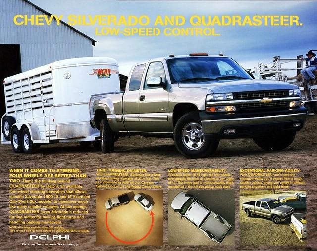 2002 chevrolet truck pickup silverado brochure quadrasteer