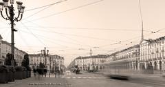 Torino Sepia (www.andreaalbertino.com) Tags: longexposure winter sky snow lines sepia torino tripod wideangle turin 2012 carignano sigma1020 canon50d andreaalbertino wwwandreaalbertinocom