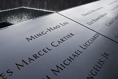 9/11 Memorial World Trade Center (dkjphoto) Tags: nyc newyorkcity travel usa newyork tourism monument water fountain america us memorial war tour unitedstates manhattan victim worldtradecenter 911 attack johnson tourist terror wtc september11 names dennisjohnson wwwdenniskjohnsoncom