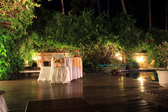 Romantic dinner for 2 (camerashy75) Tags: bali holiday indonesia island tropics bungalow candidasa watergardenhotel