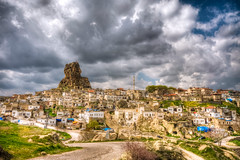 Ortahisar,Turkey (Nejdet Duzen) Tags: trip travel cloud nature turkey town trkiye cappadocia bulut turkei kasaba ortahisar seyahat doa saariysqualitypictures mygearandme