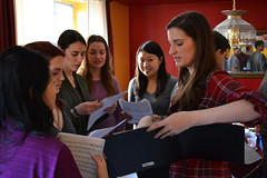 Instructions for the Altos (Sara Thorson) Tags: blue red music woman usa girl beautiful yellow america oakland student nikon women brittany colorful pretty pittsburgh elizabeth apartment purple unitedstates bright pennsylvania unitedstatesofamerica group young redhead pa craig teaching 1855mm brunette nikkor teach marigold vr oneill afs  dx chappel  steelcity cityofbridges  13556g brittanyoneill  d3100  palpittations elizabethchappel