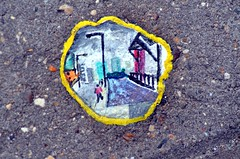 Chewing Gum Art (Squirmelia) Tags: uk london art pavement chewinggum benwilson eastindia