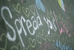 Spread your Love (Pankcho) Tags: plaza love hearts chalk words san day message floor drawing amor ground valentine valentines catalunya dibujo palabras mensaje valentín plaça piso corazones cors guix tiza paraules