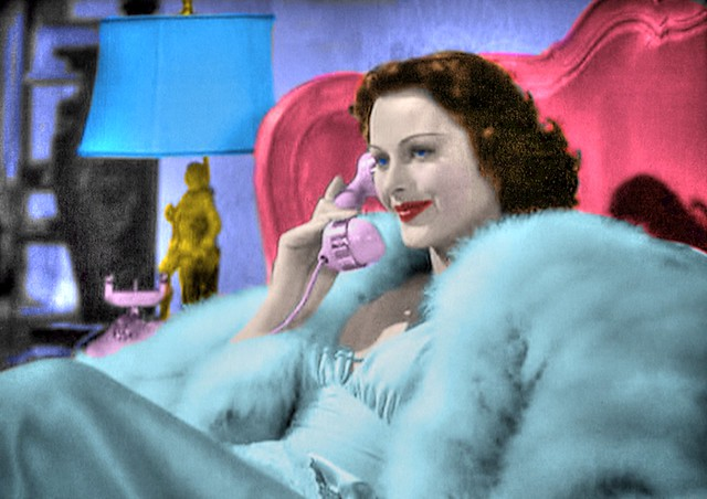 Movie Star HEDY LAMARR Receives a Call From an Admirer