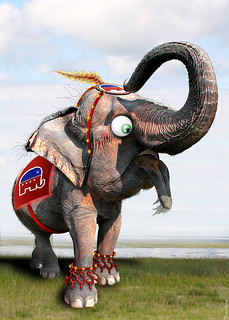 From flickr.com/photos/47422005@N04/6836788437/: GOP Elephant - Caricature