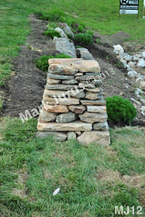 WM Mark Jurus 12, column, dry laid stone construction, copyright 2014